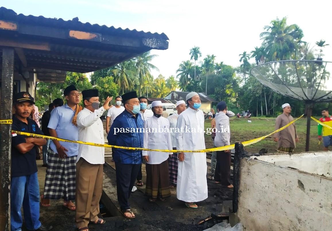 Pjs Bupati Pasbar Hansastri Tinjau Kebakaran Yang Menewaskan Satu Keluarga