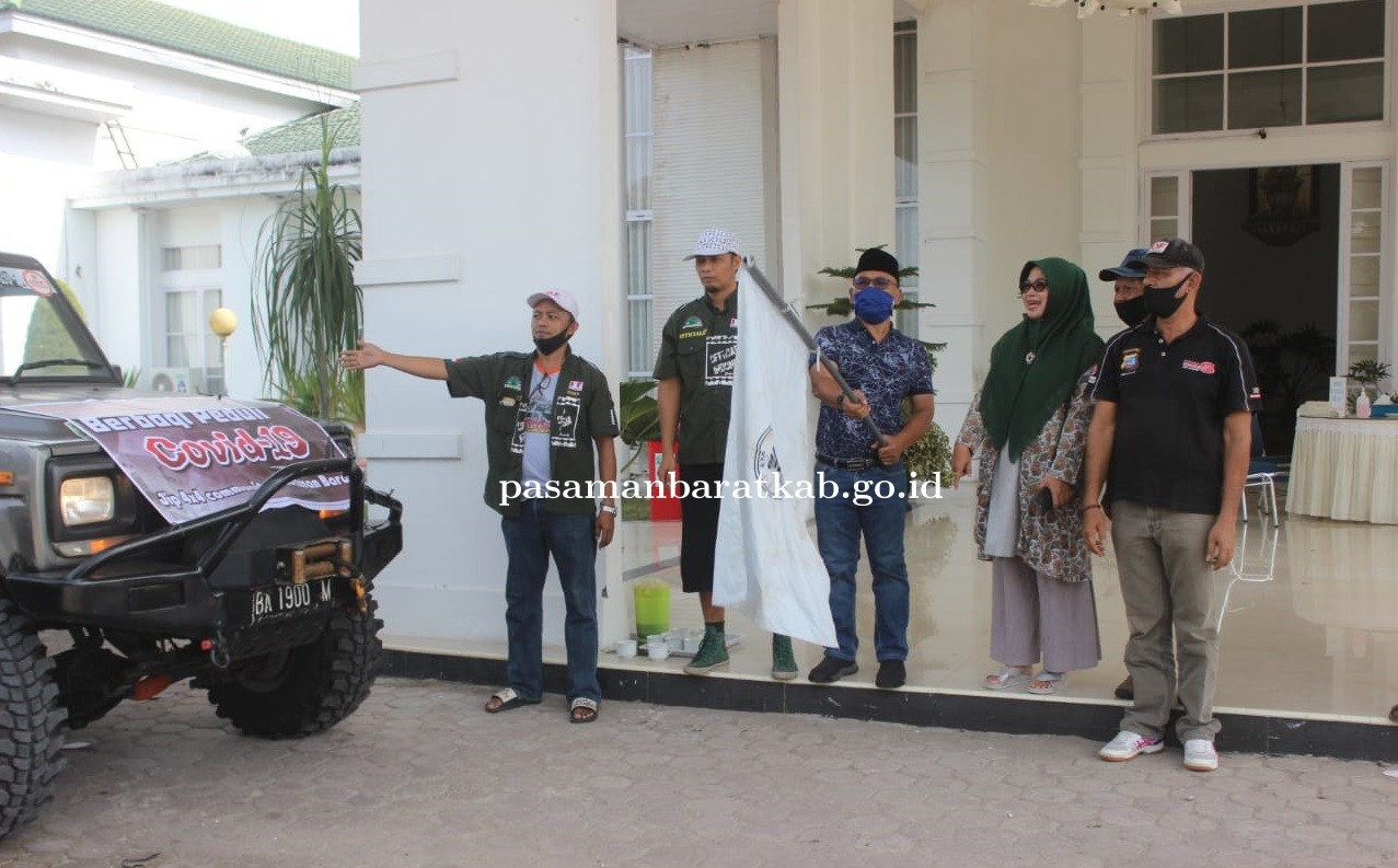 Bupati Pasbar Lepas Para Pecinta Off-Road Dalam Giat Peduli COVID-19