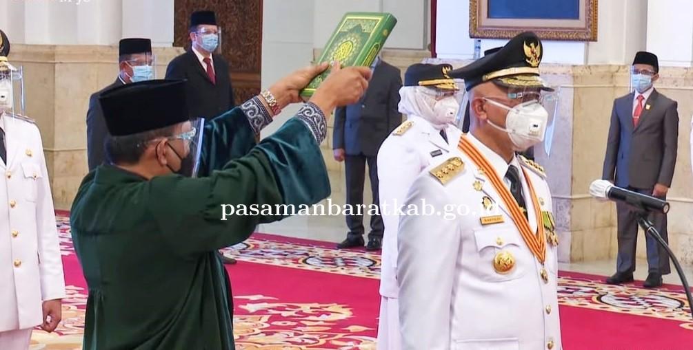Gubernur dan Wakil Gubernur Sumbar Resmi Dilantik Presiden Jokowi
