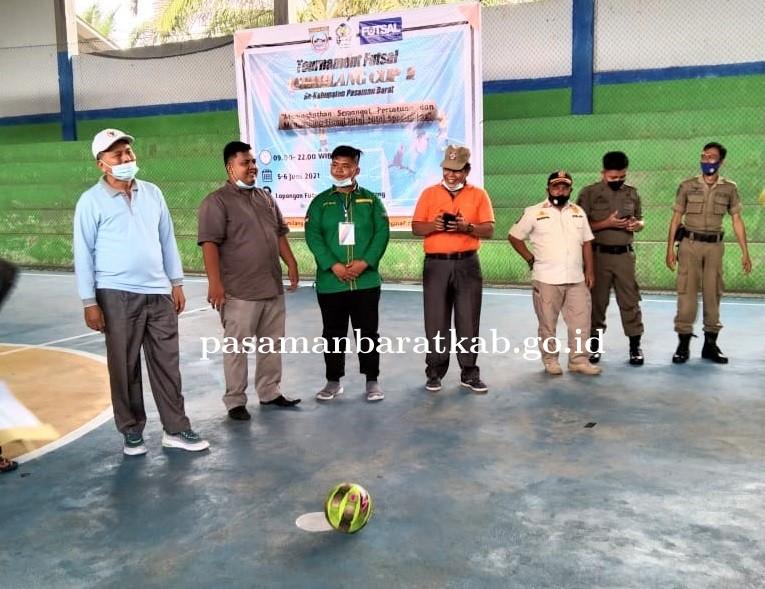 Bupati Pasaman Barat Hadiri Pembukaan Turnamen Futsal Gemilang Cup I