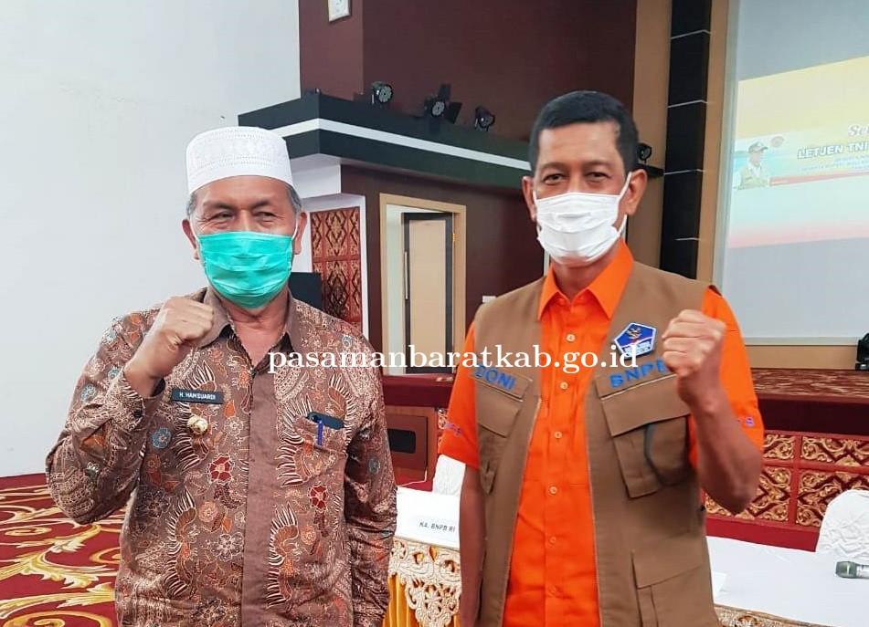 Bupati Hamsuardi Ajukan Proposal Penanggulangan Bencana di Pasbar ke BNPB
