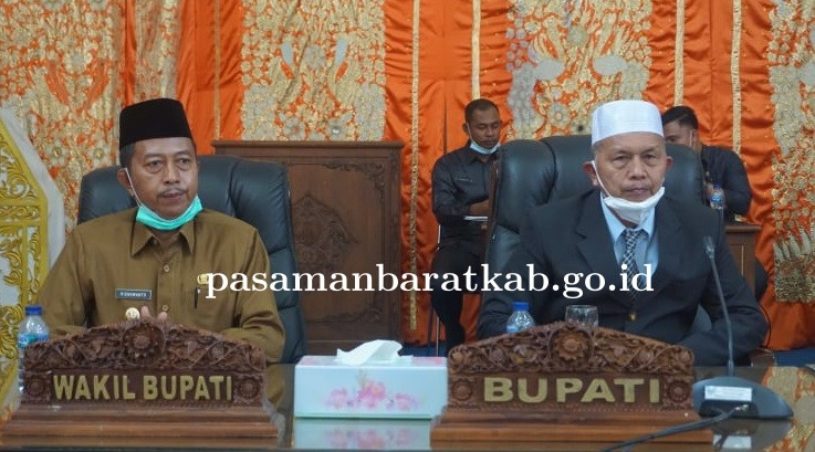 Sampaikan Visi Misi Pada Sidang Paripurna Perdana, Hamris Harapkan Dukungan DPRD Pasbar