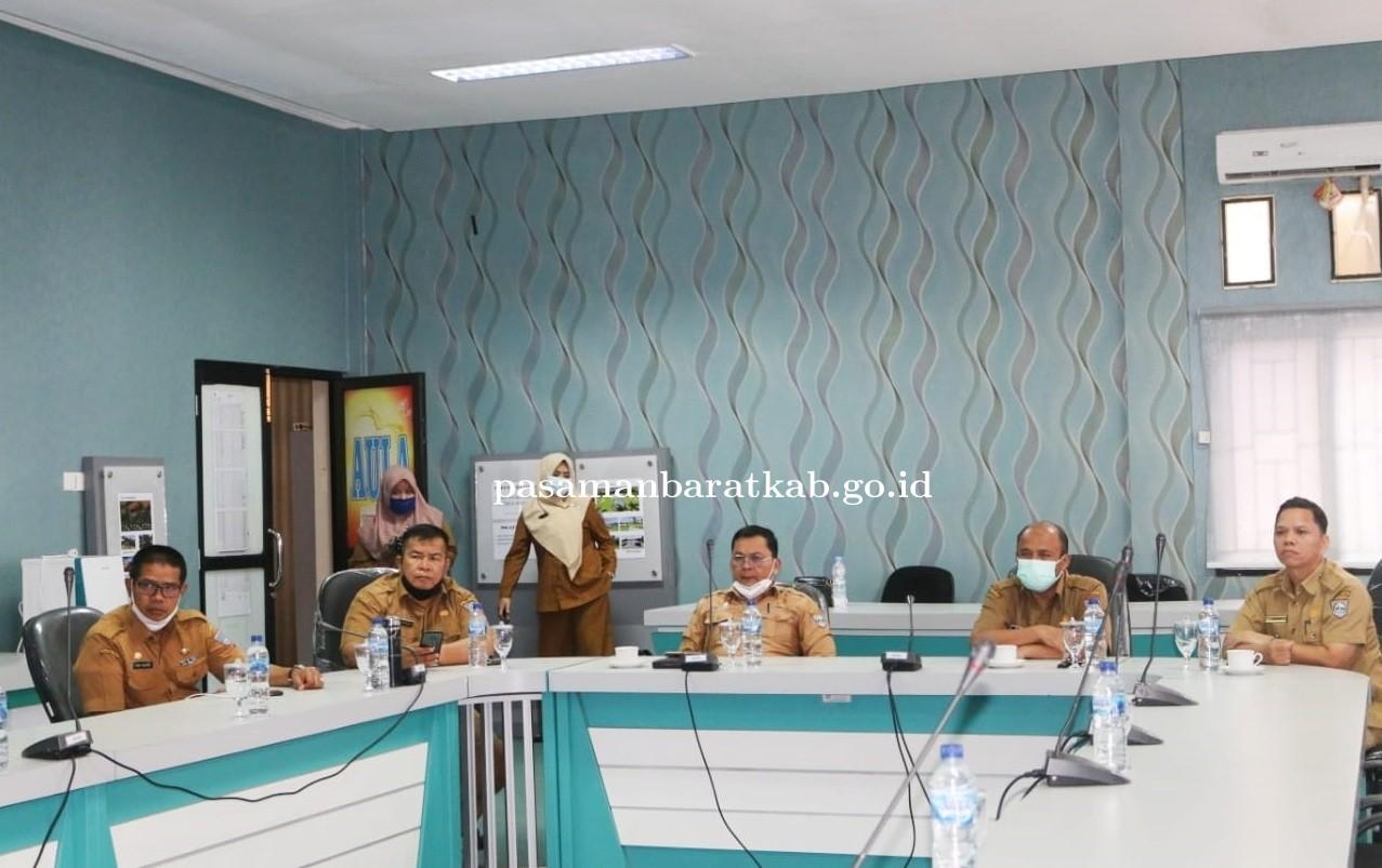 Sekda Pasbar Yudesri Vidcon dengan Dirjen terkait Plh KDH