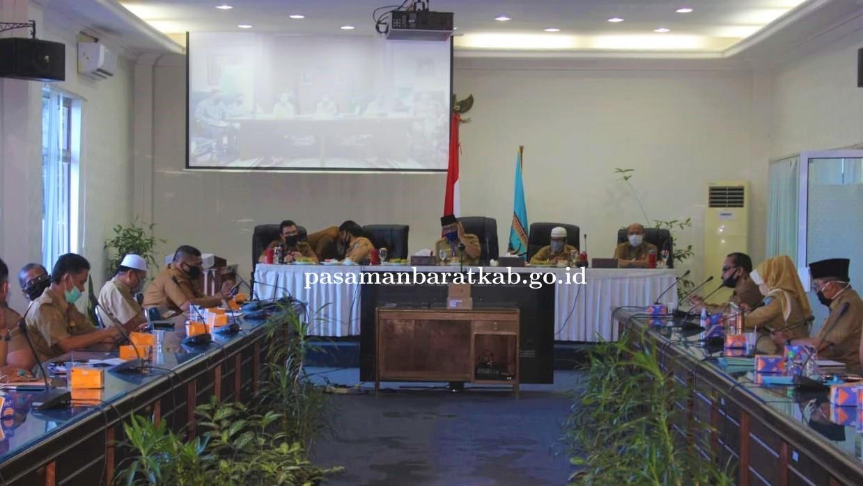 Evaluasi Penerapan New Normal Gubernur dan Seluruh Kepala Daerah se Sumbar Kembali Gelar Vidcon