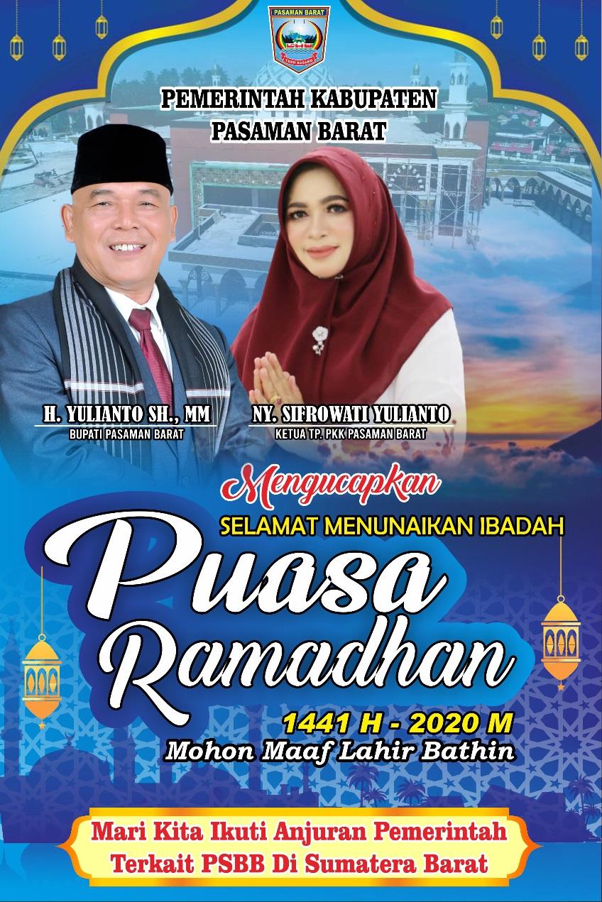 Pemerintah Kabupaten Pasaman Barat Mengucapkan Selamat Menunaikan Ibadah Puasa Ramadhan 1441 H/ 2020 - (Ada 1 foto)